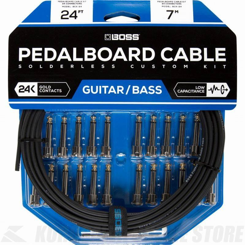 BOSS BCK-24 Pedalboard cable kit, 24connectors, 7.3m (パッチケーブル自作キット)(送料無料) 【ONLINE STORE】