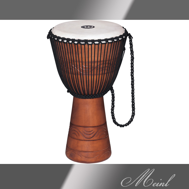 Meinl マイネル Original African Style Rope Tuned Wood Djembe 12