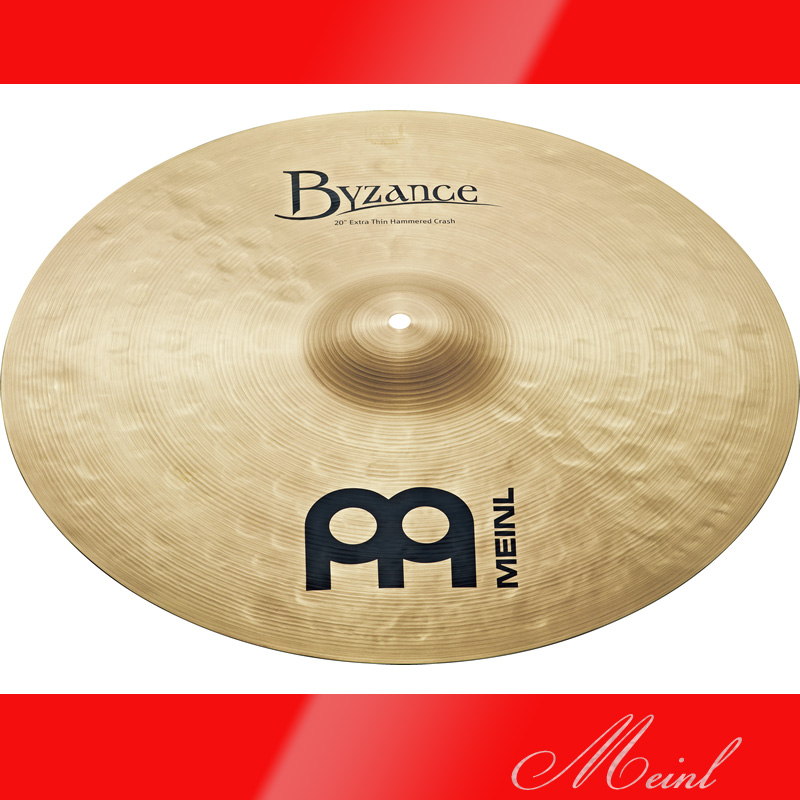 Meinl マイネル Byzance Traditional Series Extra Thin Hammered Crash Cymbal 20