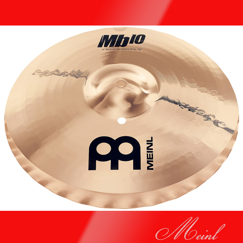 "Meinl マイネル Mb10 Hihat 14"" MEDIUM SOUNDWAVE [MB10-14MSW-B] ハイハット 【送料無料】【ONLINE STORE】"