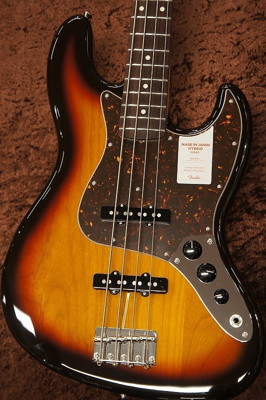 Fender Hybrid Series 60s Jazz Bass -3-Color Sunburst- 【New】【名古屋店】