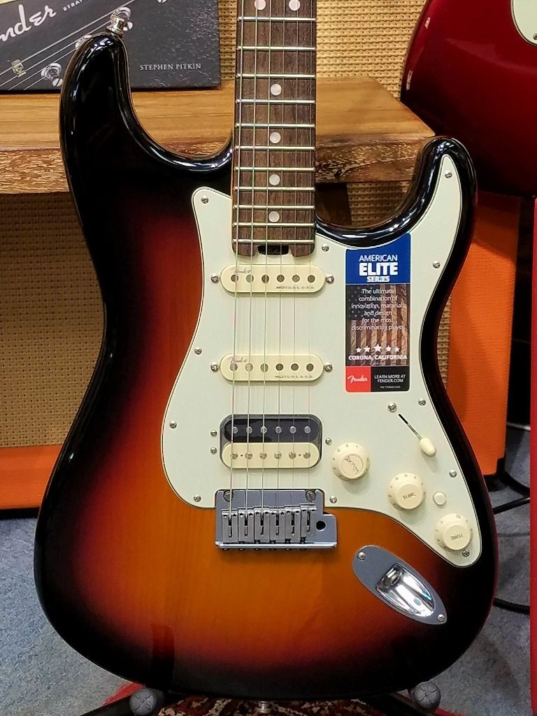 Fender American Elite Stratocaster HSS 3-Color Sunburst 【新品】【おちゃのみず楽器在庫品】