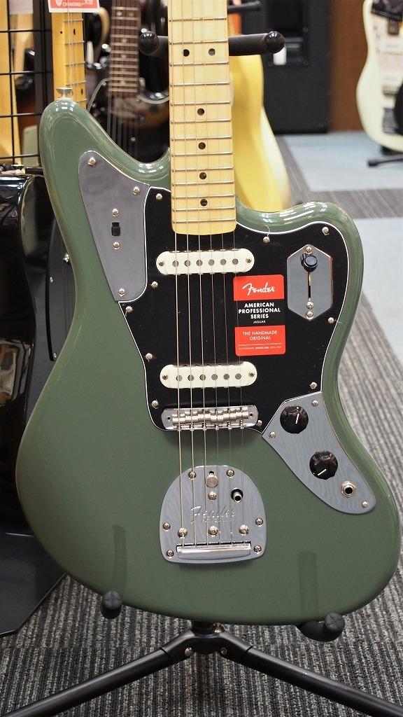 Fender American Professional Jaguar Antique Olive 【新品】【おちゃのみず楽器在庫品】