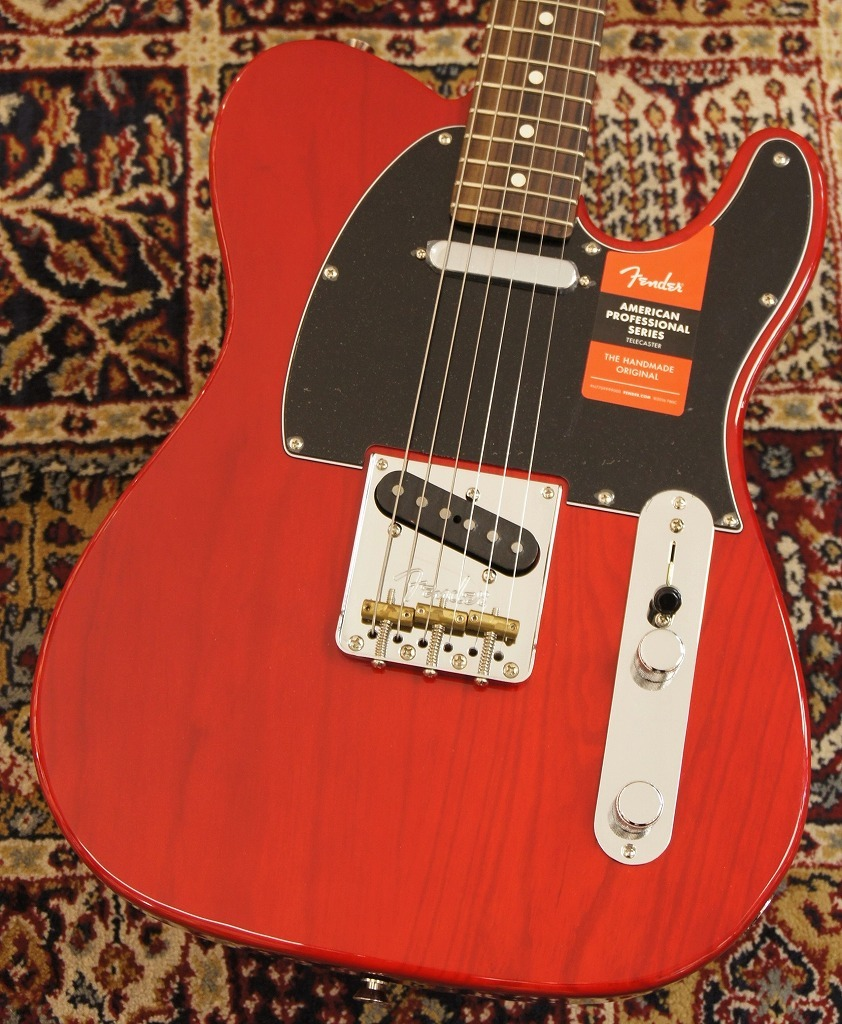 Fender American Professional Telecaster Crimson Red Transparent 【軽量個体!!】 【新品】【おちゃのみず楽器在庫品】