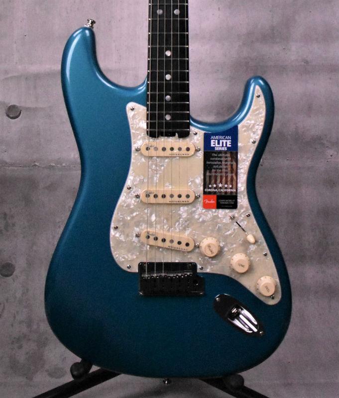 Fender American Elite Stratocaster Ebony Fingerboard Ocean Turquoise【新品】【おちゃのみず楽器在庫品】