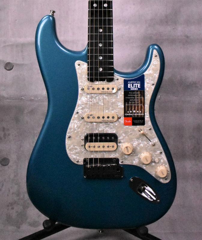 Fender American Elite Stratocaster HSS Shawbucker Ebony Fingerboard Ocean Turquoise【新品】【おちゃのみず楽器在庫品】