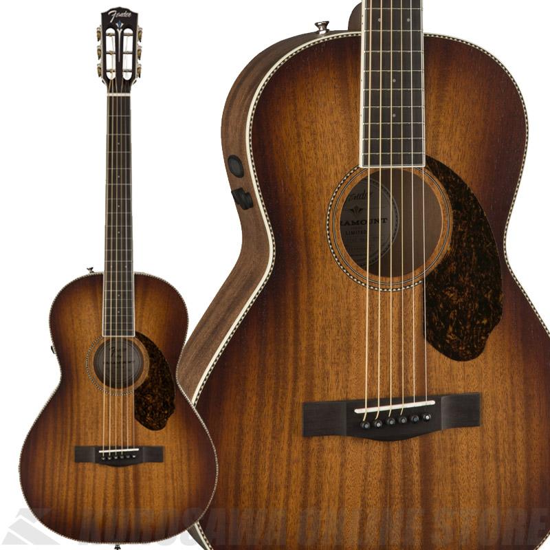 Fender PM-2E Parlor All-Mahogany, Antique Cognac Burst【数量限定品】《アコースティックギター》【送料無料】 【ONLINE STORE】