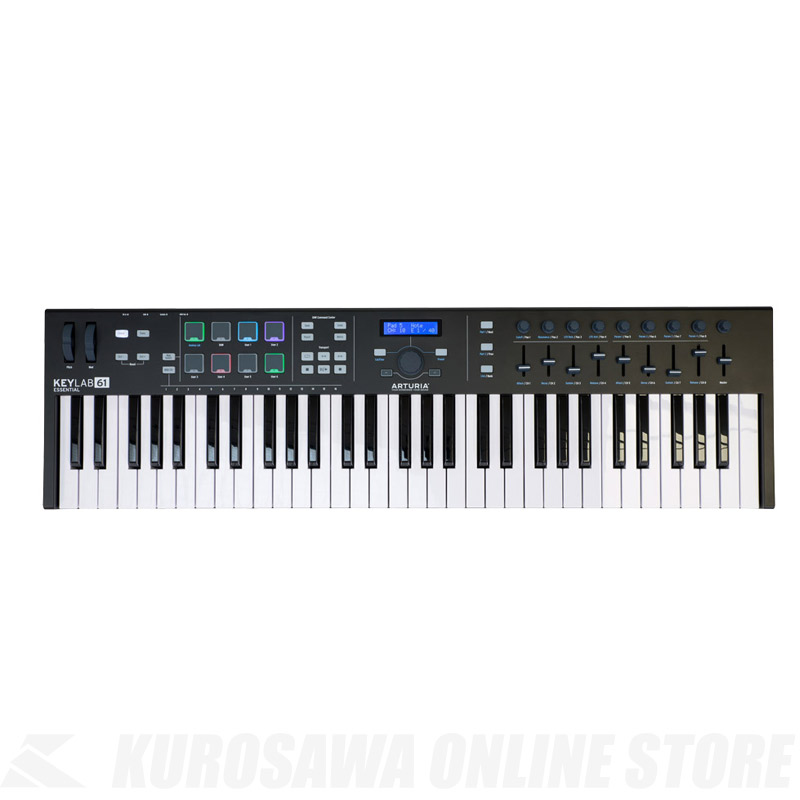 ARTURIA KeyLab Essential 61 Black Edition [ESN61 BK]【送料無料】【4月28日発売・ご予約受付中】 【ONLINE STORE】