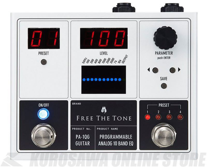 Free The Tone PA-1QG[PROGRAMMABLE ANALOG 10 BAND EQ]ギター用 (エフェクター/イコライザー)【送料無料】【新品】【ONLINE STORE】
