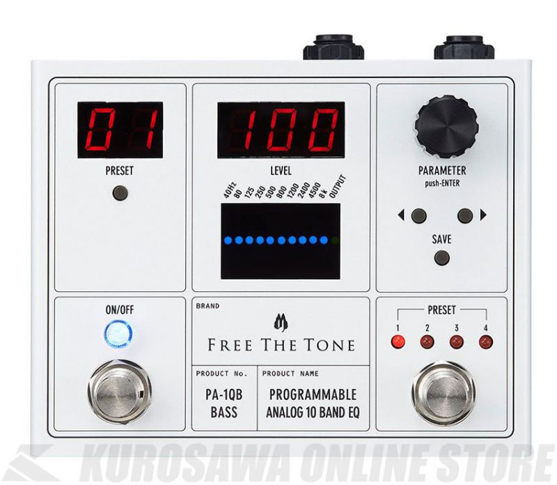 Free The Tone PA-1QB[PROGRAMMABLE ANALOG 10 BAND EQ]ベース用 (エフェクター/イコライザー)【送料無料】【新品】【ONLINE STORE】