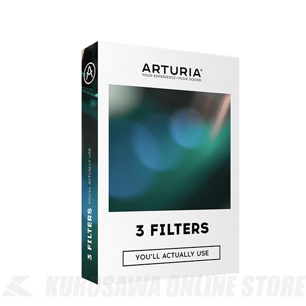 ARTURIA 3FILTERS 《プラグインソフトウェア》【送料無料】【5月19日発売・ご予約受付中】 【ONLINE STORE】