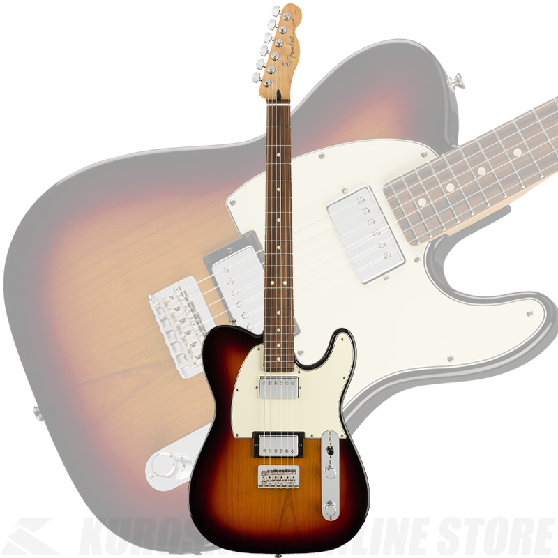 Fender Player Telecaster HH, Pau Ferro Fingerboard, 3-Color Sunburst【送料無料】(ご予約受付中) 【ONLINE STORE】