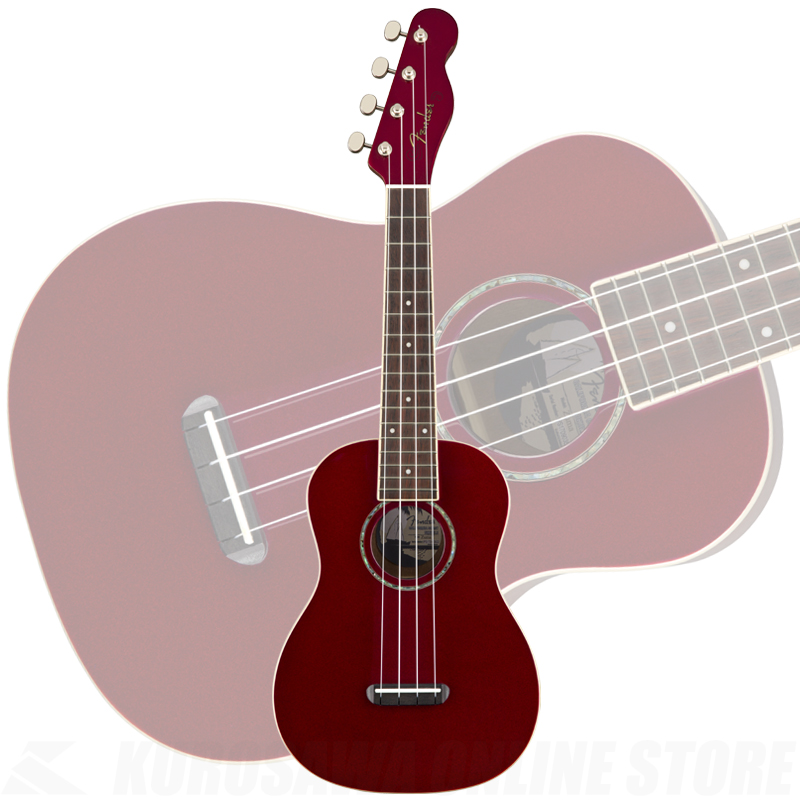 Fender Zuma Concert Ukulele Candy Apple Red《ウクレレ》 【ONLINE STORE】