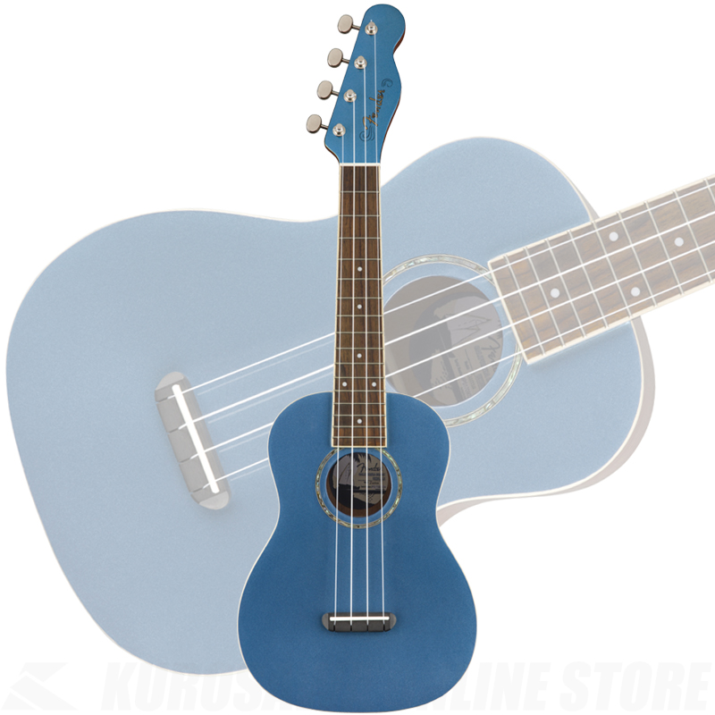 Fender Zuma Concert Ukulele Lake Placid Blue《ウクレレ》 【ONLINE STORE】