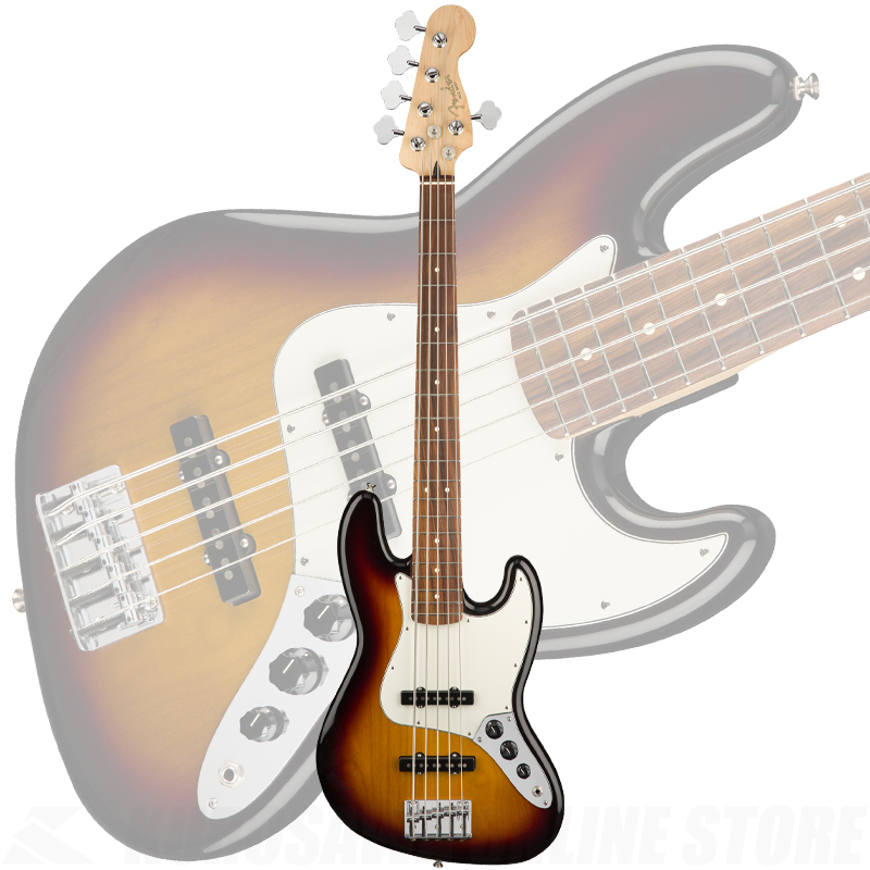 Fender Player Jazz Bass V,Pau Ferro Fingerboard,3-Color Sunburst【送料無料】(ご予約受付中) 【ONLINE STORE】