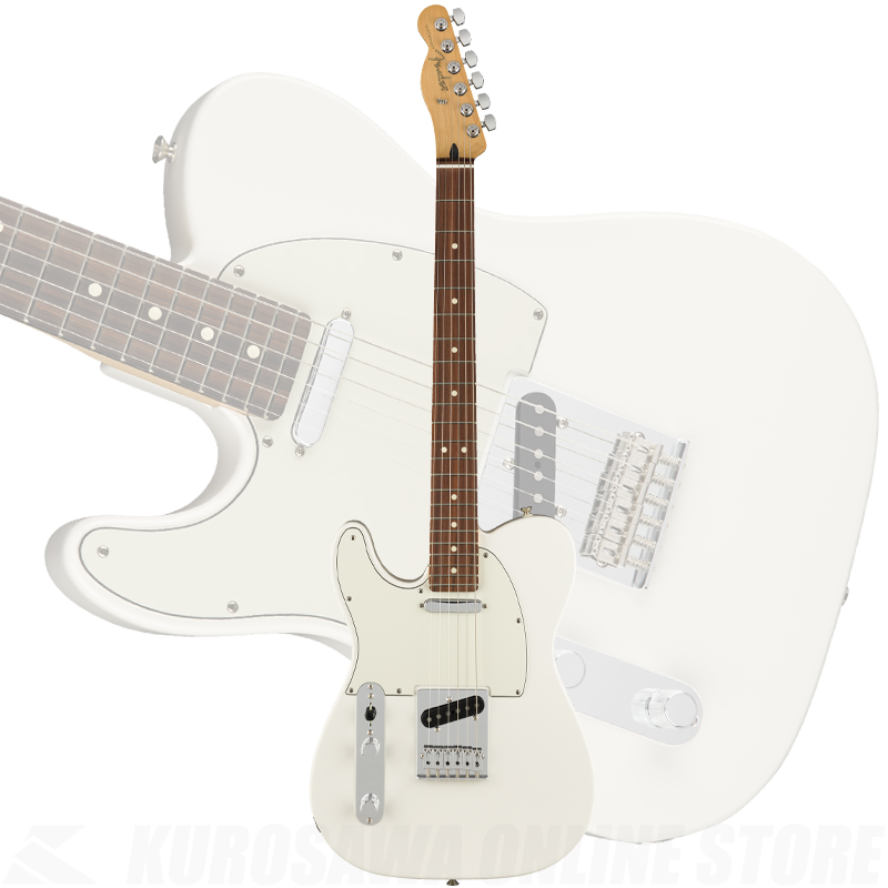 Fender Player Telecaster Left-Handed, Maple Fingerboard, Polar White(ご予約受付中) 【ONLINE STORE】