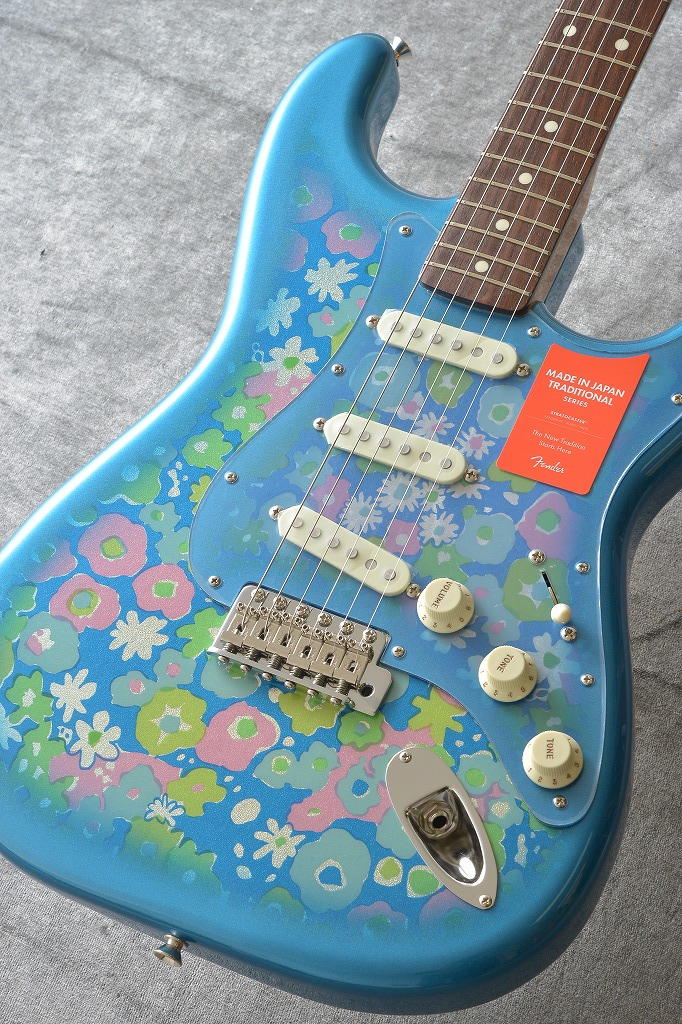 Fender Made in Japan Traditional MIJ '60s Stratocaster , Rosewood, Blue Flower 【アウトレット特価】 【ONLINE STORE】
