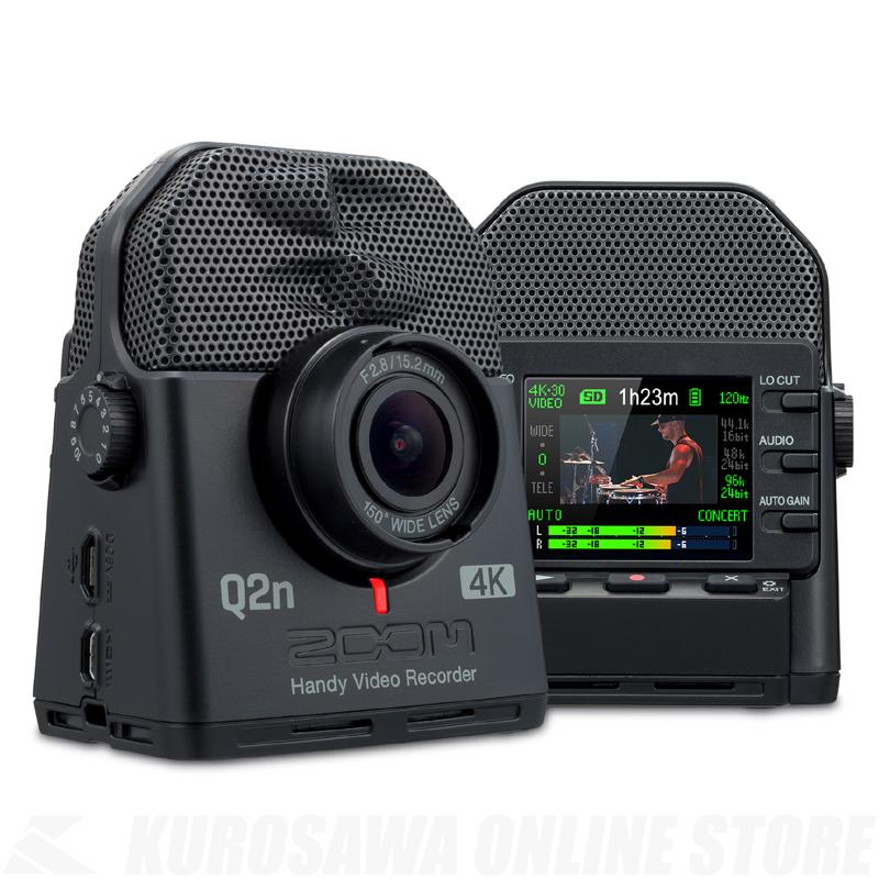 ZOOM Q2n-4K《ハンディビデオレコーダー》【送料無料】【11月下旬発売予定・ご予約受付中】 【ONLINE STORE】