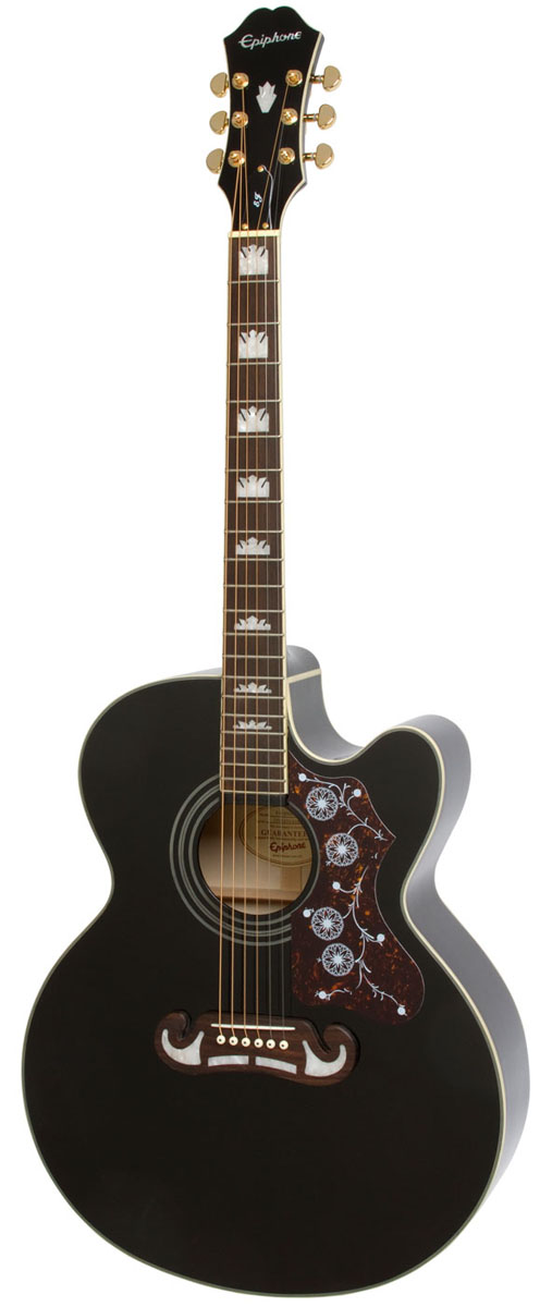 Epiphone EJ-200CE (Black)[EEJ2BKGH1]《アコースティックギター》【送料無料】【次回入荷分ご予約受付中】【ONLINE STORE】