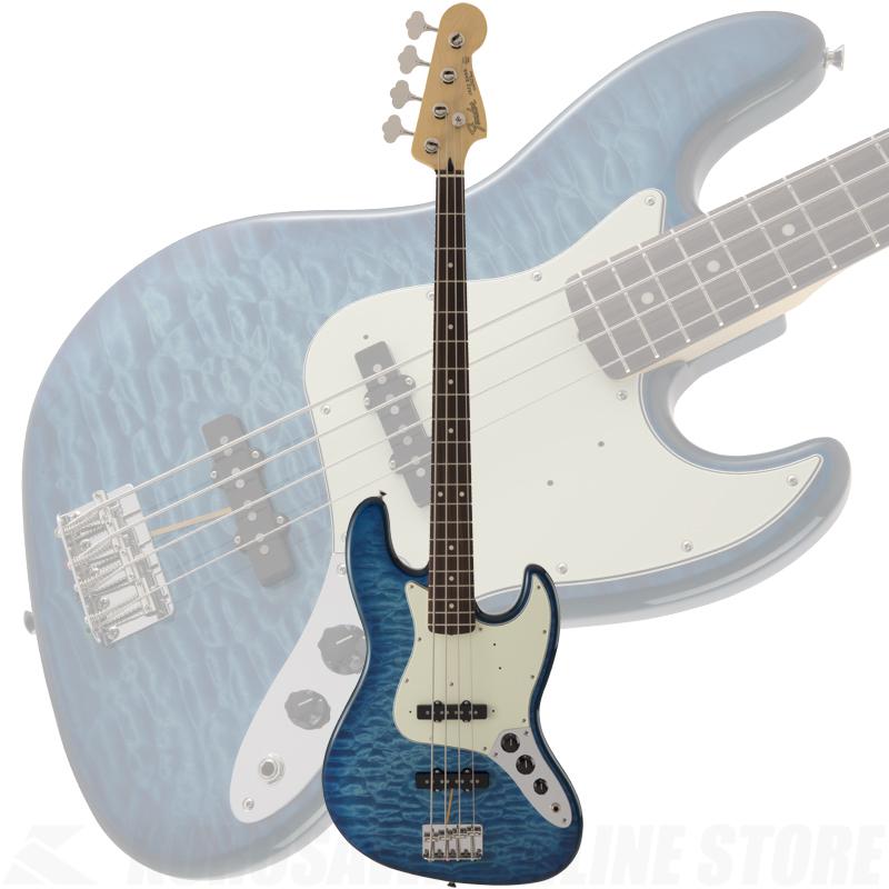 Fender FSR MIJ Hybrid 60s Jazz Bass Quilt Top, Transparent Blue 【ONLINE STORE】