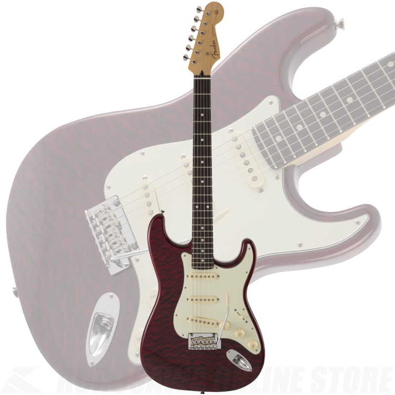 Fender FSR MIJ Hybrid 60s Stratocaster Quilt Top, Transparent Red 【ONLINE STORE】