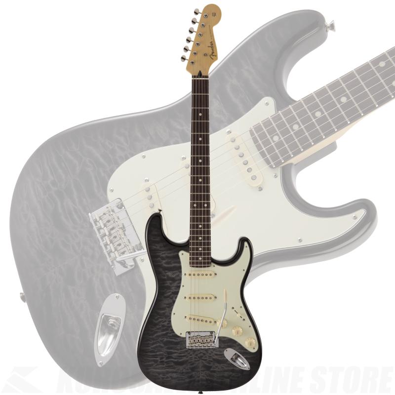 Fender FSR MIJ Hybrid 60s Stratocaster Quilt Top, Transparent Black 【ONLINE STORE】