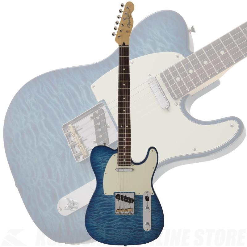 Fender FSR MIJ Hybrid 60s Telecaster Quilt Top, Transparent Blue 【ONLINE STORE】