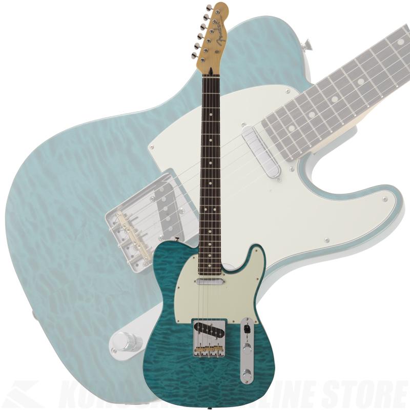 Fender FSR MIJ Hybrid 60s Telecaster Quilt Top, Transparent Green 【ONLINE STORE】