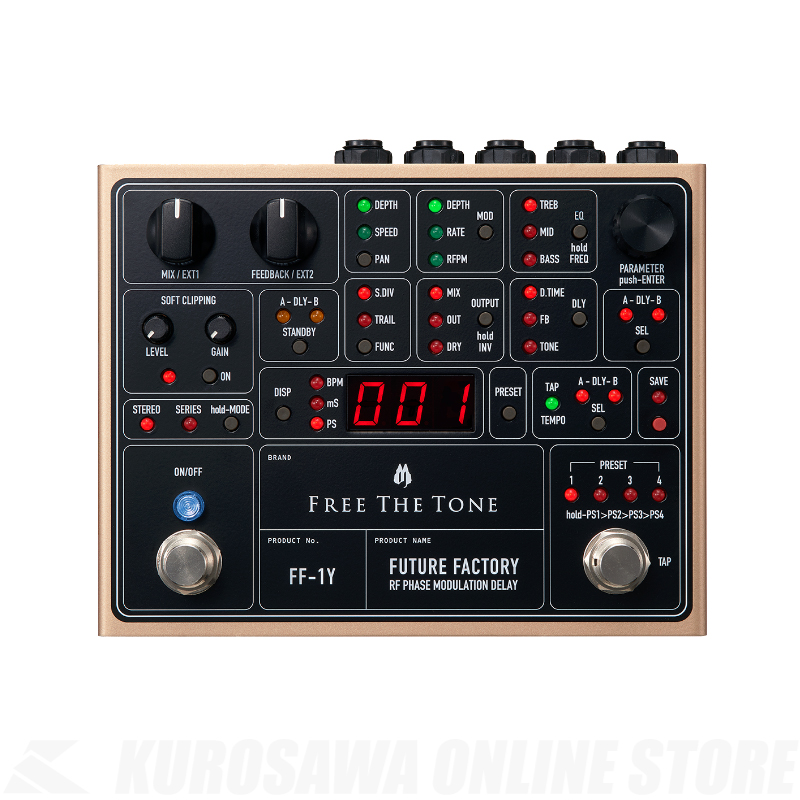 FREE THE TONE FUTURE FACTORY FF-1Y -RF PHASE MODULATION DELAY-【ONLINE STORE】