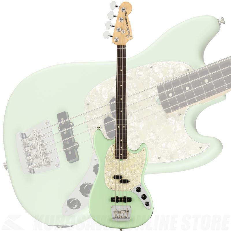 Fender American Performer Mustang Bass, Rosewood Fingerboard, Satin Surf Green【ONLINE STORE】