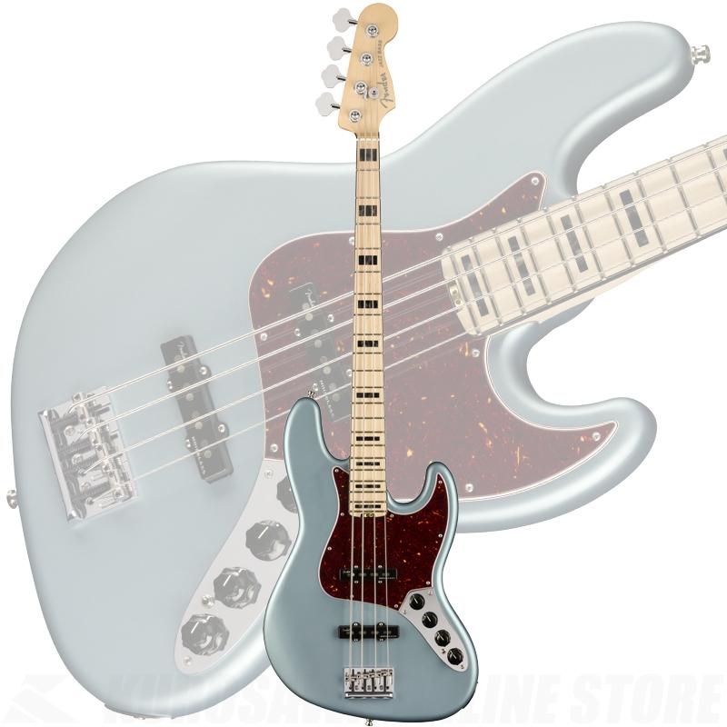 Fender American Elite Jazz Bass, Maple Fingerboard, Satin Ice Blue Metallic【ONLINE STORE】