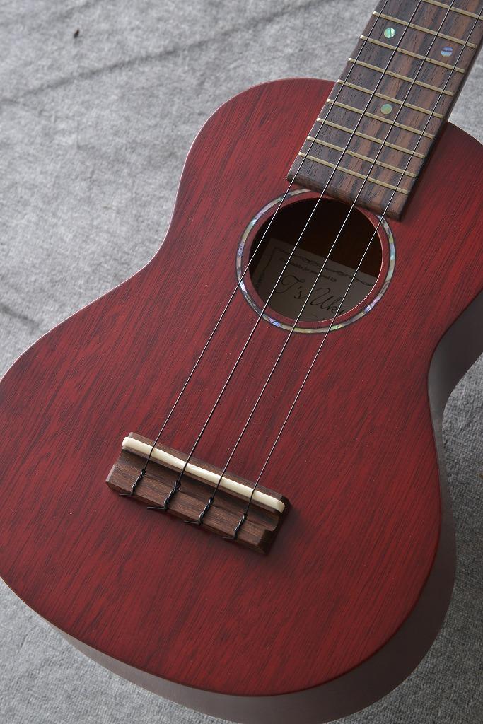 T's Ukulele SD-100 See-Through Red クロサワ楽器特注カラー (ソプラノウクレレ)(送料無料)【ONLINE STORE】