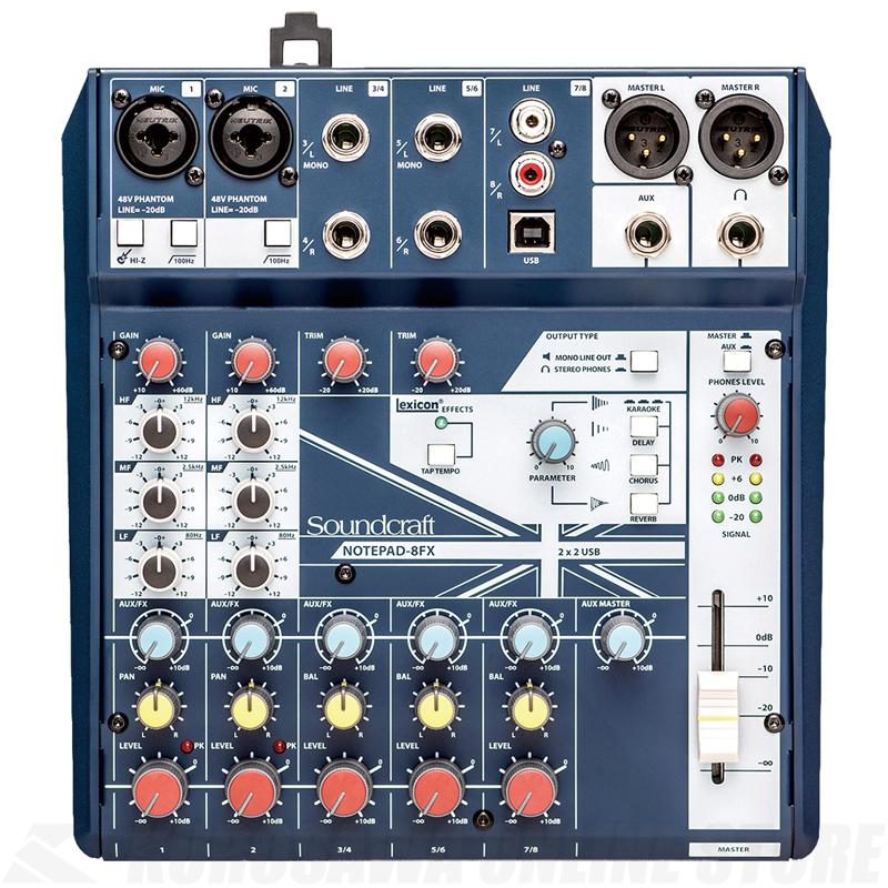Soundcraft Notepad-8FX《コンパクトミキサー》【送料無料】【2019年8月7日発売予定・ご予約受付中】【ONLINE STORE】
