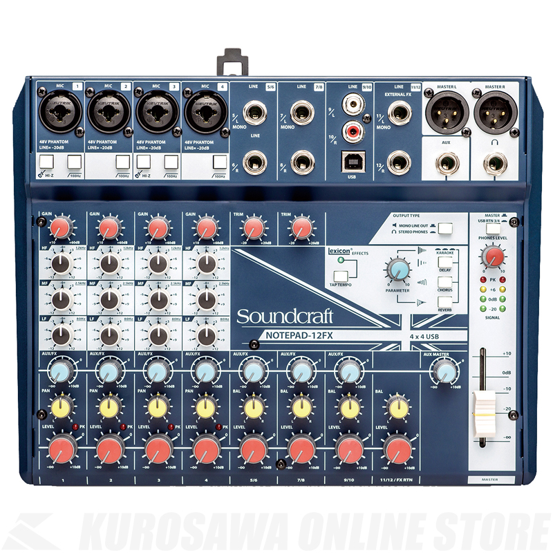Soundcraft Notepad-12FX《コンパクトミキサー》【送料無料】【2019年8月7日発売予定・ご予約受付中】【ONLINE STORE】