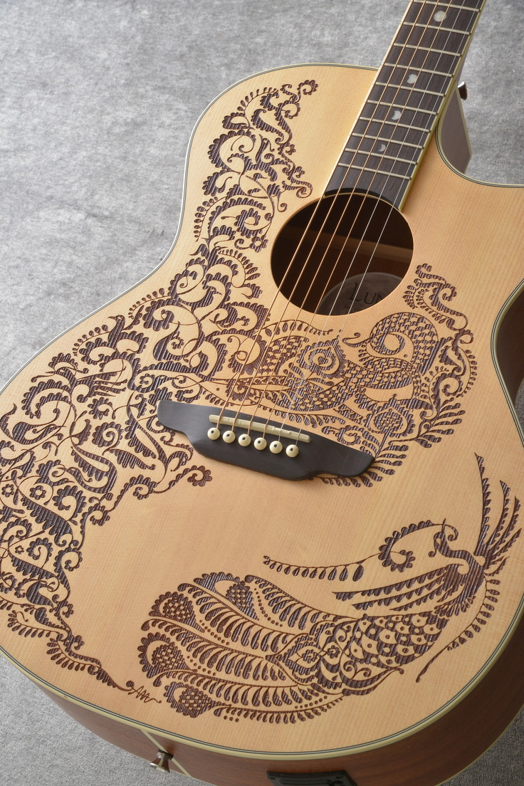 LUNA Guitars Henna Series Paradise A/E Select Spruce [HEN PA SPR]【送料無料】【ご予約受付中】【ONLINE STORE】