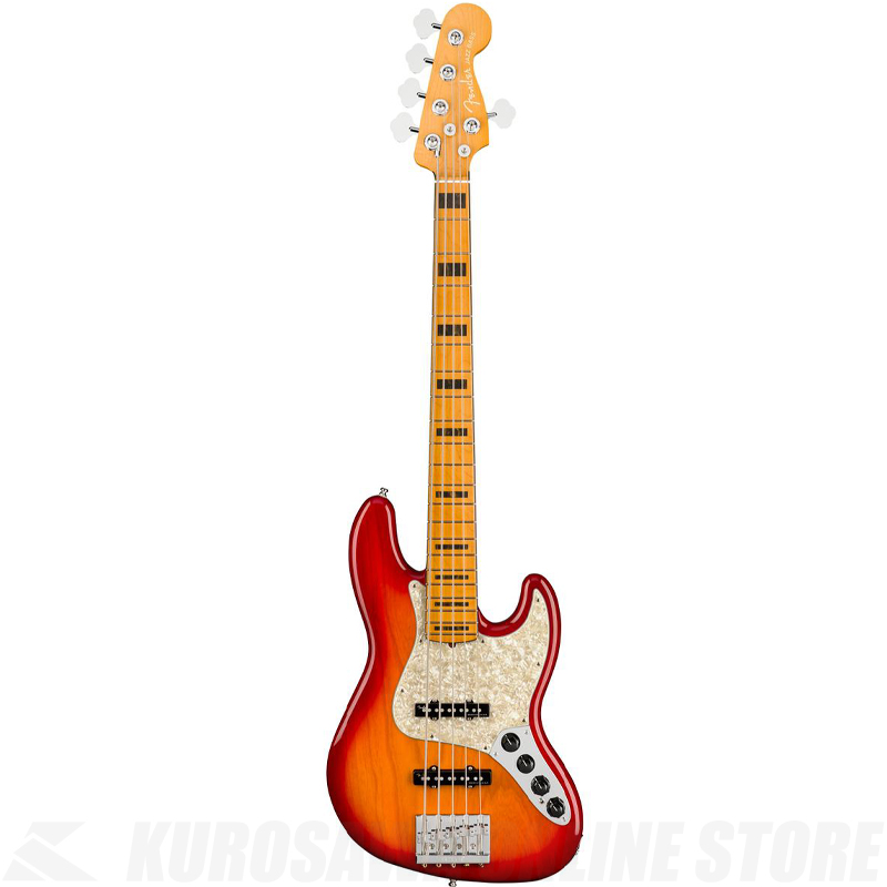 Fender American Ultra Jazz Bass V,Maple Fingerboard,Plasma Red Burst【小物セットプレゼント!】【ONLINE STORE】