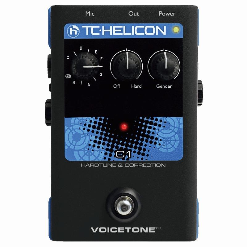 ボーカルエフェクター ペダル ティーシーヘリコン TC-Helicon VOICETONE C1 [ボイス用エフェクター・ボーカルエフェクター]【ONLINE STORE】