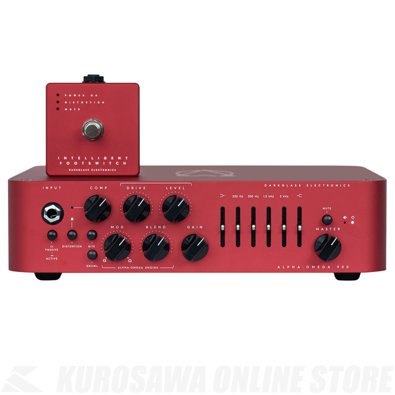 "Darkglass Alpha Omega 900 Limited Edition ""RED""【限定品】【ご購入の方にMicrotubes Xをプレゼント!】【ONLINE STORE】"