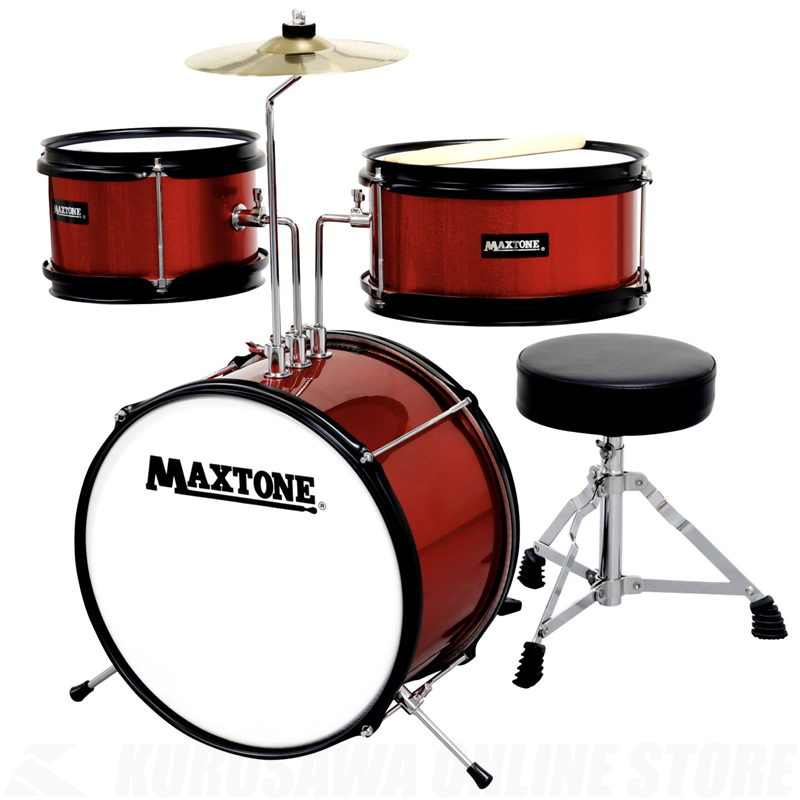 MAXTONE ジュニアドラムセット MX-60 RED【送料無料】【ONLINE STORE】
