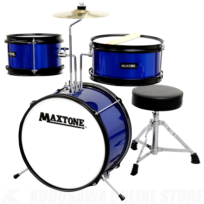 MAXTONE ジュニアドラムセット MX-60 BLU【送料無料】【ONLINE STORE】