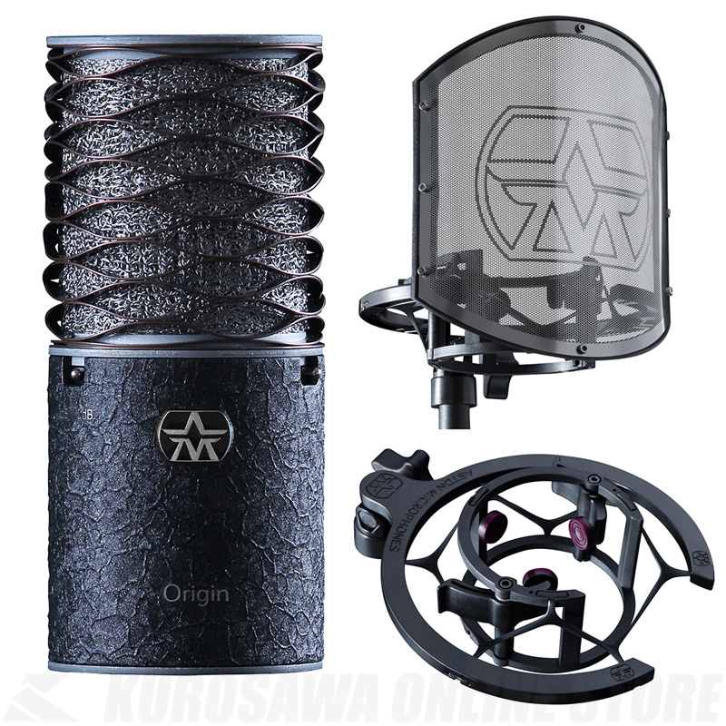 Aston Microphones Aston Origin Black Bundle [AST-ORIGINBLKBUN] バンドルセット【限定生産品】(ご予約受付中)【ONLINE STORE】