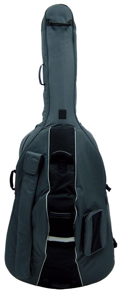 厚みたっぷりのパッドが大切な楽器をしっかりガード 限定品 Carlo Giordano カルロ ジョルダーノ 誕生日 お祝い BSC-300 STORE コントラバスケース GRAY smtb-u ONLINE キャスター付き