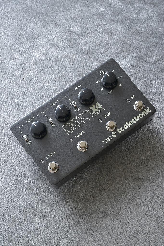 TC ELECTRONIC Ditto X4 Looper 《エフェクター/ルーパー》【送料無料】【次回入荷分・ご予約受付中】 【ONLINE STORE】
