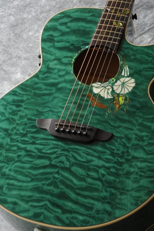 【年間ランキング6年連続受賞】 Luna Guitars Flora moonflower folk quilt map cust fbd 《アコースティックギター》【送料無料】(ご予約受付中)【ONLINE STORE】, おばけのかくれんぼrenren店 24069998