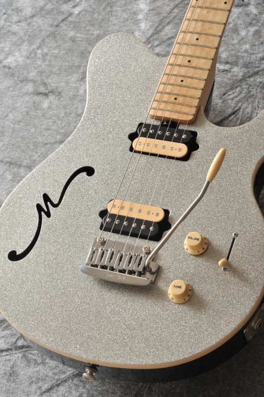 MUSICMAN Axis Super Sport Semi-Hollow Body HH trem Maple Fingerboard,Matching Headstock (Silver Sparkle)【送料無料】【受注生産品】【ONLINE STORE】