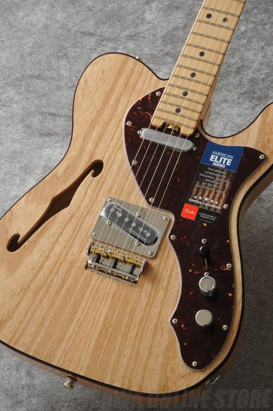 Fender American Elite Telecaster Thinline, Maple Fingerboard, Natural《エレキギター》【ご予約受付中】【ONLINE STORE】