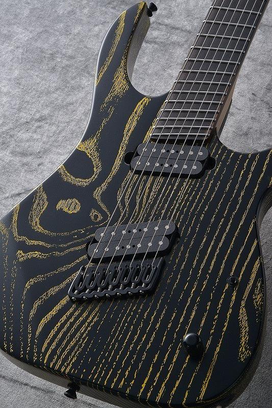 Strictly 7 Guitars Cobra K7 HT/B Fannd Fret -Black with Yellow Grain Fill- 【G-CLUB渋谷】