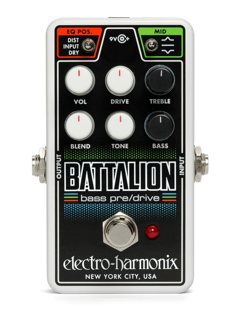 Electro-Harmonix Nano Battalion [Bass Preamp & Overdrive] [エレクトロハーモニクス][エレハモ][エフェクター]【G-CLUB渋谷】
