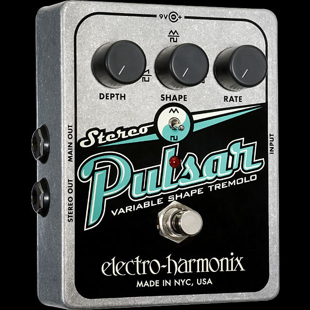 Electro-Harmonix Stereo Pulsar [Variable Shape Analog Tremolo][エレクトロハーモニクス][エレハモ][エフェクター]【G-CLUB渋谷】
