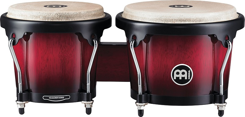 MEINL HB100 Wine Red Burst Headlinerシリーズウッドボンゴ[6 3/4